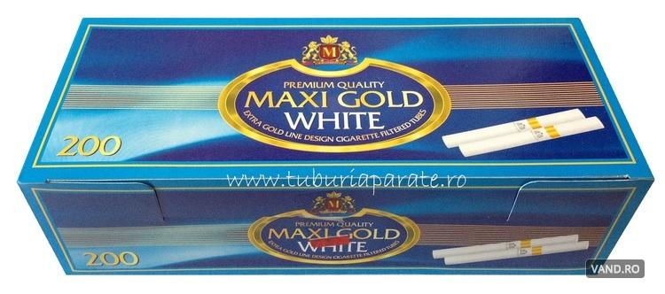 Tuburi Tigari Maxi Gold White